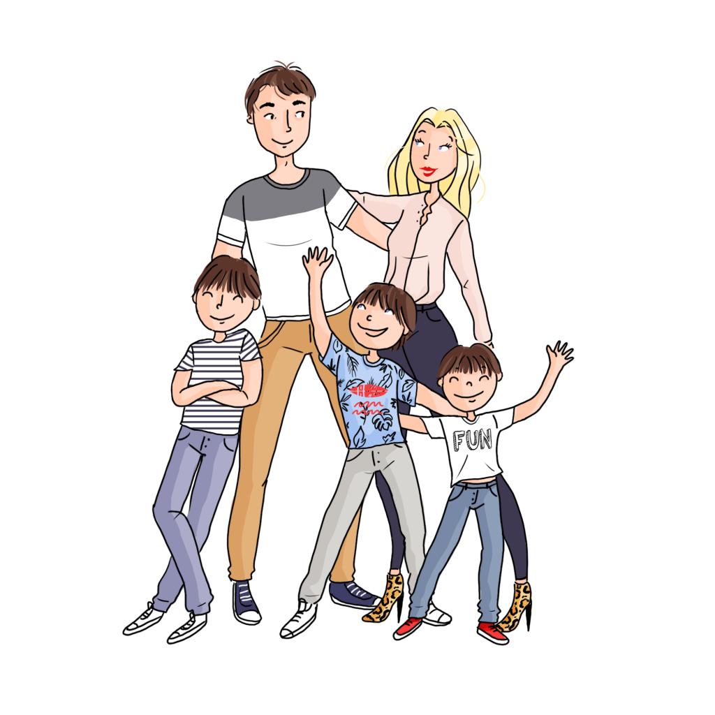 famille Delmas couleurs 2 application gestion et organisation familiale myfamiliz