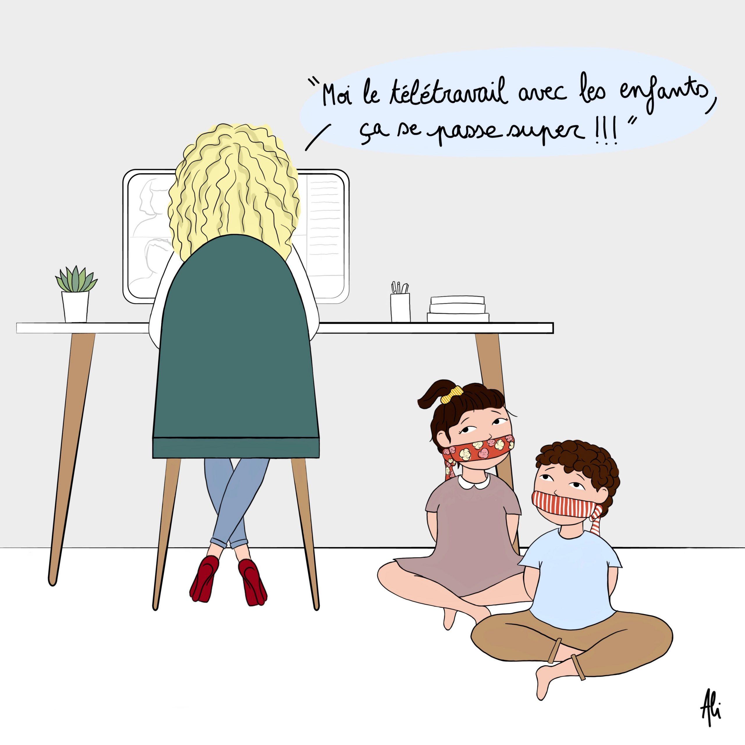Comment travailler ET s'occuper de ses enfants à la maison?!